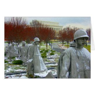 korean war memorial card