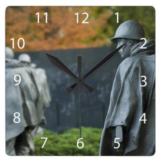 Korean War Memorial Square Wall Clock