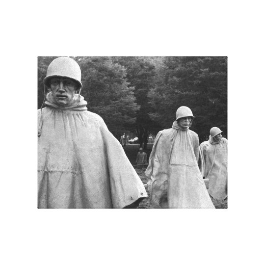 Korean War Memorial Stretched Canvas Print