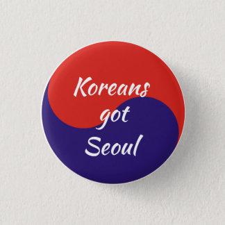 Koreans Got Seoul 1 Inch Round Button