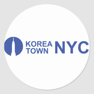 KOREATOWN NYC ROUND STICKER