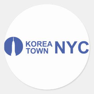 KOREATOWN NYC ROUND STICKER