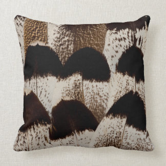 Kori Bustard feather design Throw Pillow