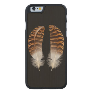Kori Bustard Feathers Carved Maple iPhone 6 Case