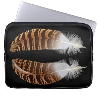 Kori Bustard Feathers Laptop Computer Sleeves