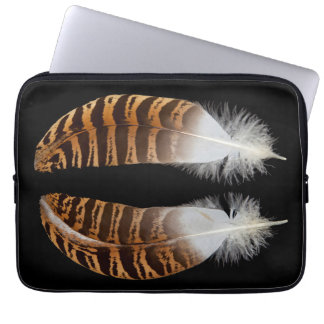 Kori Bustard Feathers Laptop Sleeve