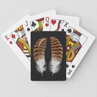 Kori Bustard Feathers Playing Cards