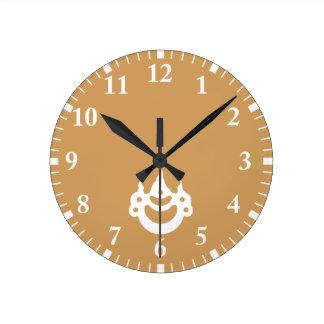 Korin-style jewel wall clock