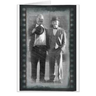 Kornberg & Druwing as Laurel & Hardy card