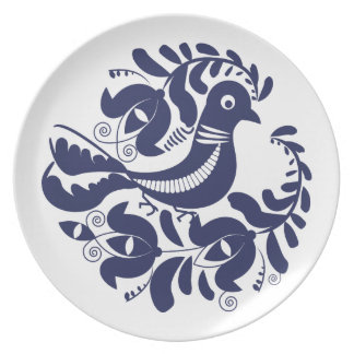 Korondi folk motif dinner plates