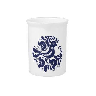 Korondi folk motif drink pitcher