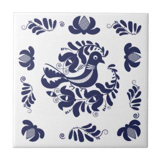 Korondi folk motif tile