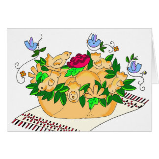 Korovai for Ukrainian Wedding Card
