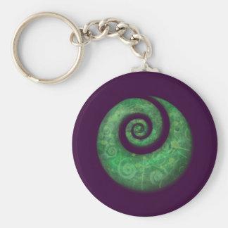 koru basic round button keychain
