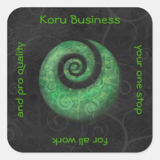 koru business square sticker