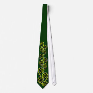Koru scroll - green tie