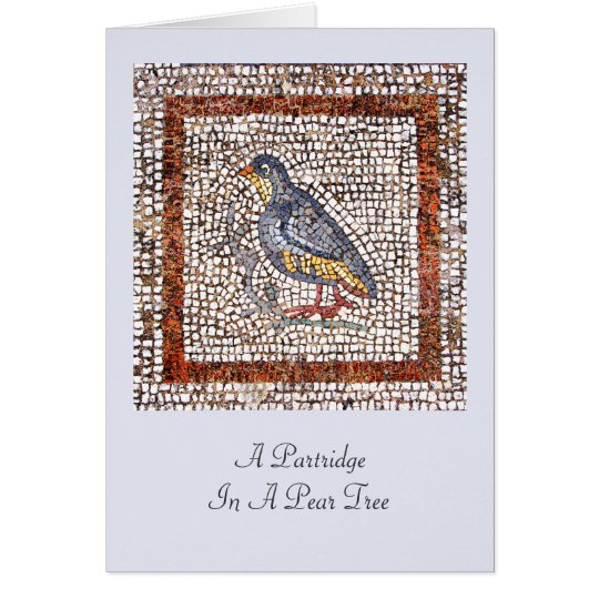 Kos Bird Mosaic Christmas Greeting Card
