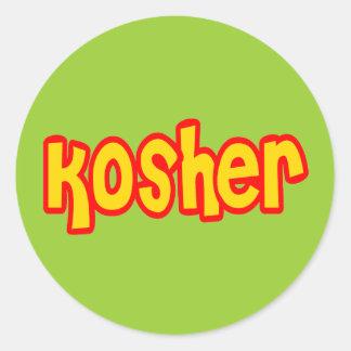Kosher Classic Round Sticker