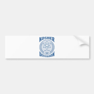 Kosher Division Bumper Sticker