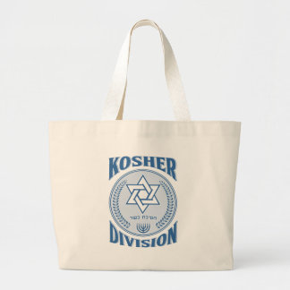 Kosher Division Large Tote Bag