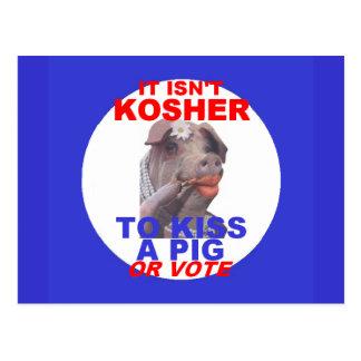 KOSHER  Pig Postcard