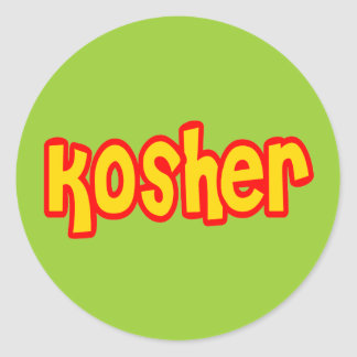 Kosher Round Sticker