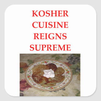 KOSHER SQUARE STICKER