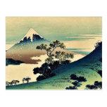 Koshu inume toge by Katsushika, Hokusai Ukiyoe Post Card