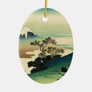 Koshu Inume Toge - Katsushika Hokusai Ukiyo-e Art Ceramic Ornament