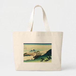 Koshu Inume Toge - Katsushika Hokusai Ukiyo-e Art Large Tote Bag