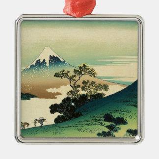 Koshu Inume Toge - Katsushika Hokusai Ukiyo-e Art Metal Ornament