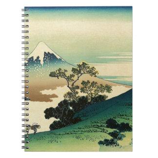 Koshu Inume Toge - Katsushika Hokusai Ukiyo-e Art Spiral Notebook