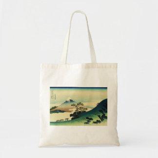 Koshu Inume Toge - Katsushika Hokusai Ukiyo-e Art Tote Bag