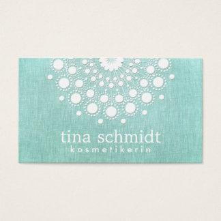 Kosmetologie Hübscher Kreis-Motiv Licht Aqua Blau Business Card