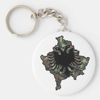 Kosovo Army key supporter Basic Round Button Keychain