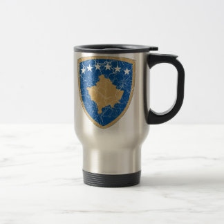 Kosovo Coat Of Arms Travel Mug