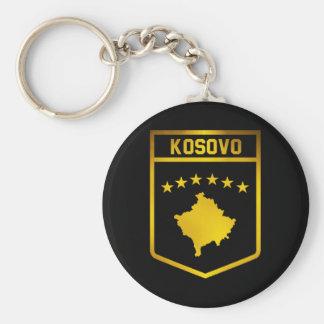 Kosovo Emblem Basic Round Button Keychain