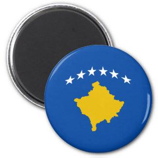 Kosovo Fisheye Flag Magnet