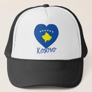 Kosovo Flag Heart Trucker Hat