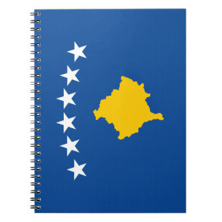 Kosovo Flag Spiral Notebook