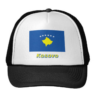 Kosovo Flag with Name Trucker Hat