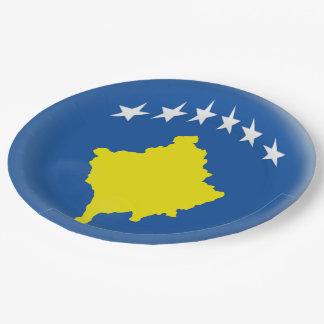 Kosovo Kosovan Flag Paper Plate