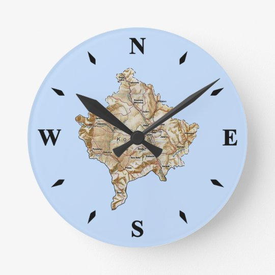 Kosovo Map Clock