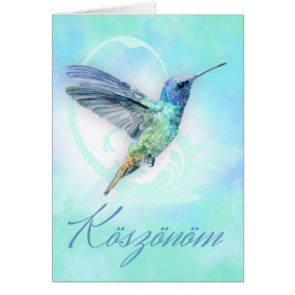 Koszonom - Hungarian Thank You - Greeting Card