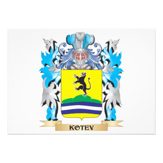 Kotev Coat of Arms - Family Crest Announcement
