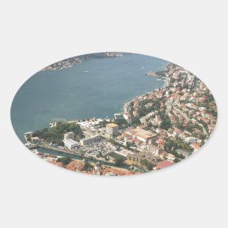 Kotor, Montenegro Oval Sticker