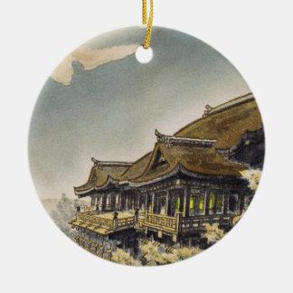 Kotozuka Eiichi The Full Moon View at Kiyomizu Round Ceramic Ornament