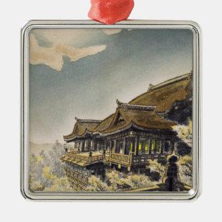 Kotozuka Eiichi The Full Moon View at Kiyomizu Silver-Colored Square Ornament