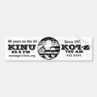kotz logo 40 years on air bumper sticker