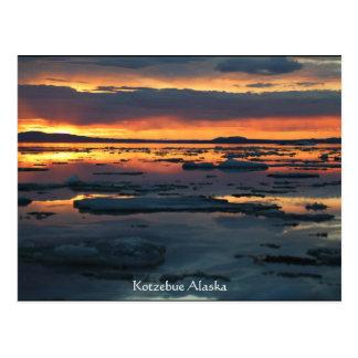 kotzebue alaska break up sunet postcard